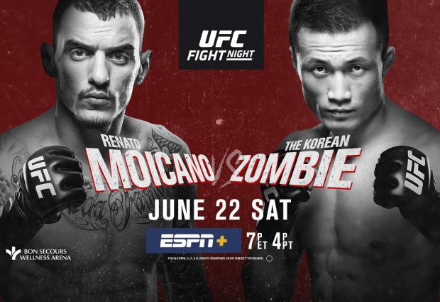Uitslagen : UFC on ESPN+ 12 Greenville : Moicano vs. The Korean Zombie