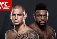 De officiële poster voor UFC Fight Night 94: Dustin Poirier vs. Michael Johnson