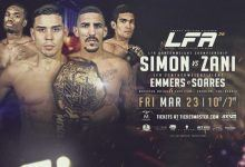 Ricky Simon verdedigt Bantamweight titel tegen Vinicius Zani tijdens LFA 36