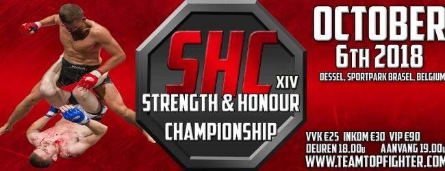 SHC kondigt drie titelgevechten aan voor SHC XIV in Oktober 2018