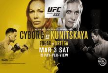 Uitslagen : UFC 222 : Cyborg vs. Kunitskaya