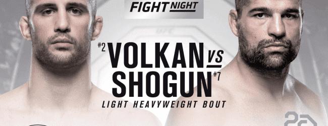 """Volkan Oezdemir vs. """"Shogun"""" Rua officieel voor UFC Santiago"""