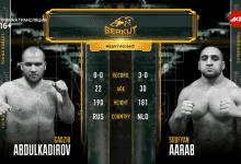 Soufyan Aarab verliest van Gadzhi Abdulkadirov na harde partij tijdens Berkut Young Eagles 4