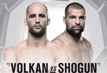 Volkan Oezdemir vs. Mauricio Rua is Main Event voor UFC Hamburg