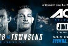 Cooper vs. Townsend & Fisher vs. Palomino toegevoegd aan ACB 88 in Brisbane
