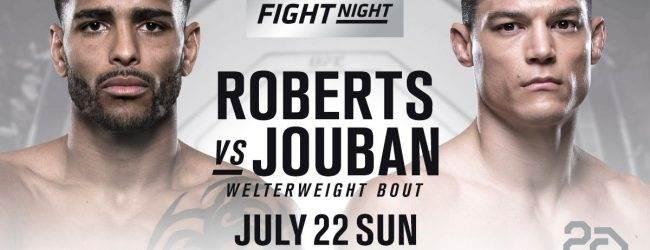Alan Jouban vecht niet tegen Danny Roberts tijdens UFC Hamburg