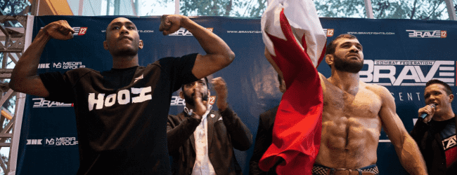 Geen succes voor Brian Hooi en Anthony Engelen tijdens Brave CF 12 in Jakarta