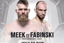 Emil Meek maakt opwachting tegen Bartosz Fabinski tijdens UFC Hamburg