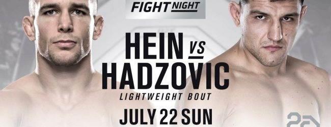 Nick Hein maakt snelle comeback tijdens UFC Hamburg tegen Damir Hadzovic
