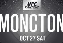 UFC debutanten Don Madge en Te Edwards vechten tijdens UFC Moncton