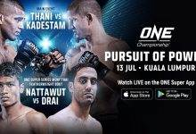 Uitslagen : ONE Championship 76 : Pursuit of Power