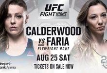 Lang verwachte rentree Joanne Calderwood tegen Kalindra Faria tijdens UFC Lincoln