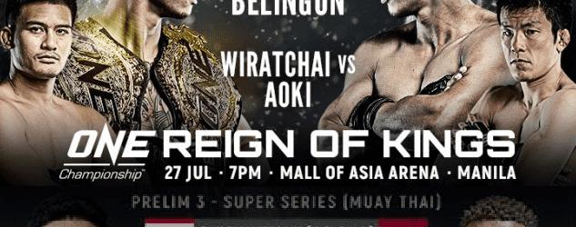 Brown Pinas morgen in actie tijdens ONE: Reign of Kings