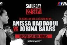 Rematch tussen Anissa Haddaoui en Jorina Baars tijdens WFL Final 8