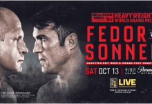 Fedor Emelianenko treft Chael Sonnen tijdens Bellator 208 in Long Island, New York