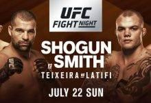 Anthony Smith vervangt Volkan Oezdemir tijdens het Main Event van UFC Hamburg