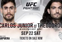 Antonio Carlos Junior geblesseerd, Elias Theodorou zonder tegenstander tijdens UFC São Paulo