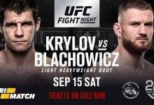 UFC Comeback voor Nikita Krylov tegen Jan Blachowicz tijdens UFC Moscow