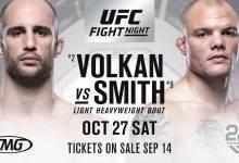 UFC Moncton Main Event gaat tussen Volkan Oezdemir en Anthony Smith