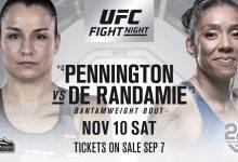 Raquel Pennington vs. Germaine de Randamie + meer toegevoegd aan UFC Denver
