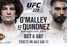 Jose Quinonez treft Sean O'Malley tijdens UFC 229 in Las Vegas