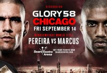 Alex Pereira vs. Simon Marcus 2 is het Main Event voor GLORY 58 in Chicago