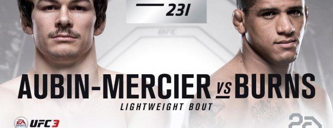 Poging 2 : Gilbert Burns vs. Olivier Aubin-Mercier tijdens UFC 231 in Toronto