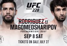 Yair Rodriguez geblesseerd, vecht NIET tegen Zabit Magomedsharipov tijdens UFC 228