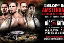 Complete Card GLORY 59 in Amsterdam bekend.