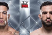 Joaquim Silva gaat de strijd aan met Jared Gordon tijdens UFC Milwaukee