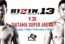 Uitslagen : RIZIN FF 13 : Saitama
