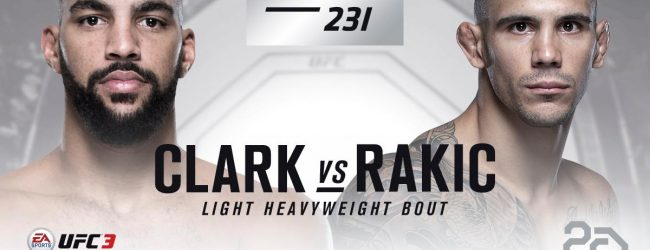 Devin Clark vs. Aleksandar Rakic toegevoegd aan UFC 231 in Toronto