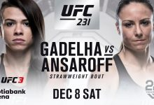 Voormalig titeluitdaagster Claudia Gadelha treft Nina Ansaroff tijdens UFC 231 in Toronto