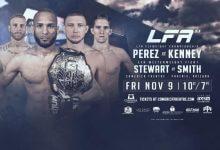 Maikel Perez verdedigt Flyweight titel tegen Casey Kenney tijdens LFA 53
