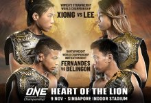 Line-up ONE Championship: Heart of the Lion krijgt vorm