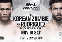 Yair Rodriguez vervangt Frankie Edgar tegen Chan Sung Jung tijdens UFC Denver