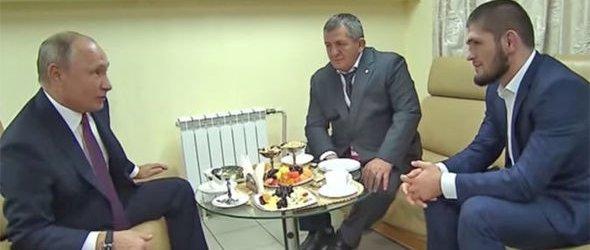 Grote huldiging voor Khabib Nurmagomedov in Rusland