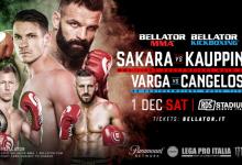Bellator 211 & Bellator KB 11 zal plaatsvinden in Genua, Italië