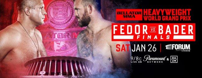 Fedor Emelianenko vs. Ryan Bader voor de Heavyweight titel in Januari 2019