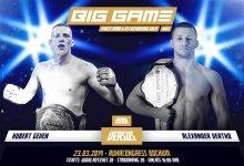 Hubert Geven vecht voor Big Game Finest MMA titel tegen Kampioen Alexander Vertko