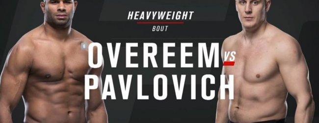 Alistair Overeem verslaat Pavlovich in de eerste ronde