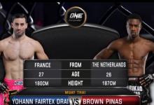Indrukwekkende overwinning voor Brown Pinas tijdens ONE: Warrior's Dream