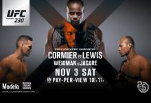 Uitslagen : UFC 230 : Cormier vs. Lewis