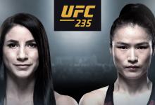Tecia Torres treft Chinese sensatie Weili Zhang tijdens UFC 235 in Las Vegas