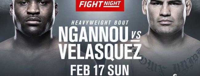 Cain Velasquez vs. Francis Ngannou is het Main Event voor UFC on ESPN 1 in Phoenix