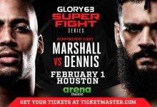 D'Angelo Marshall tegen Demoreo Dennis tijdens GLORY in Houston