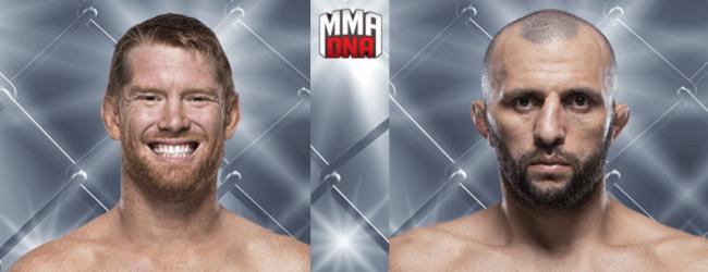 Sam Alvey treft Gadzhimurad Antigulov tijdens UFC Fight Night 145 in Praag
