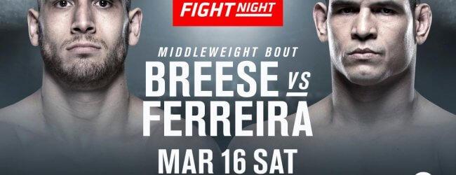 Cezar Ferreira vervangt Alessio Di Chirico tegen Tom Breese tijdens UFC Londen