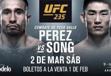 Alejandro Perez treft Song Yadong tijdens UFC 235 in Las Vegas
