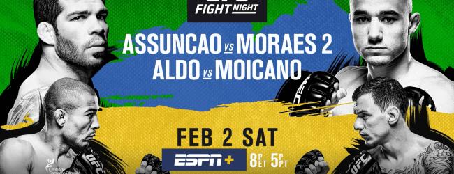UFC on ESPN+ 2 Main Card: de gevechten (Video)